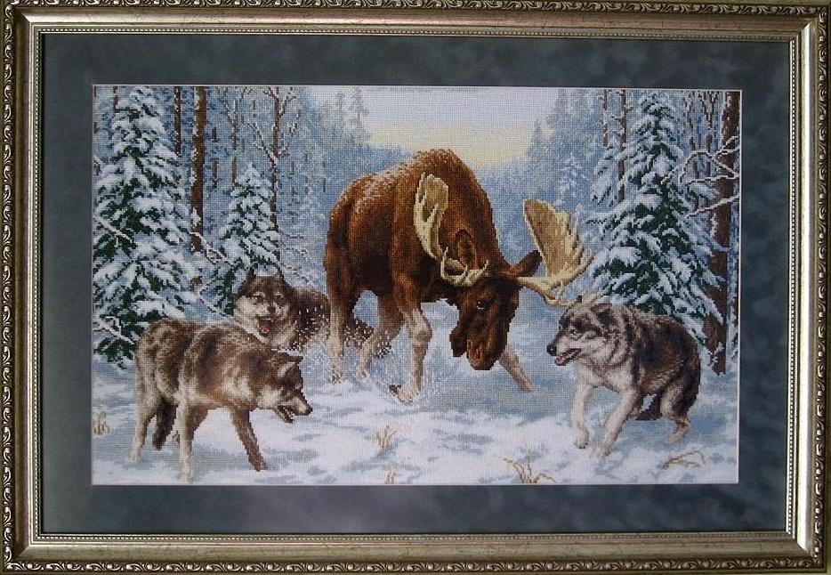 Волки картины для вышивания