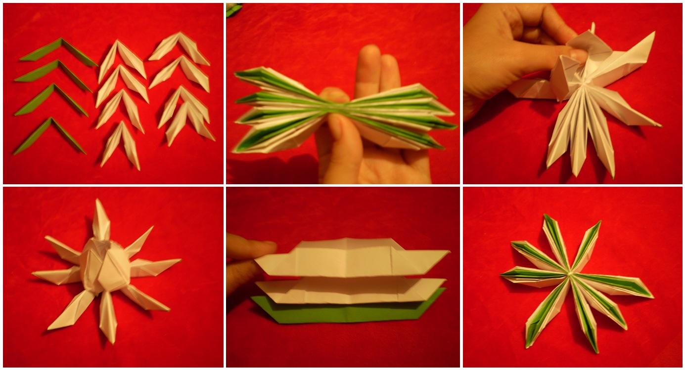 Лотос из бумаги оригами