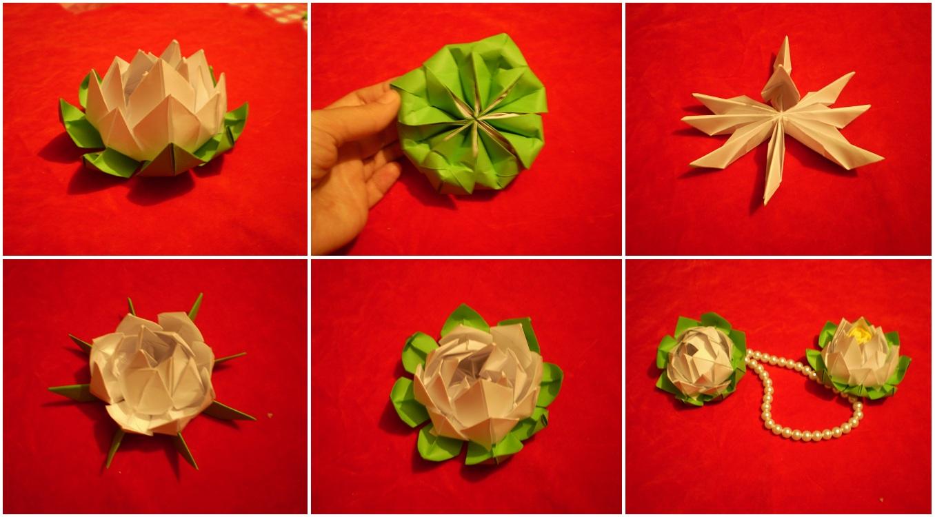 Как сделать бумажный лотос своими руками