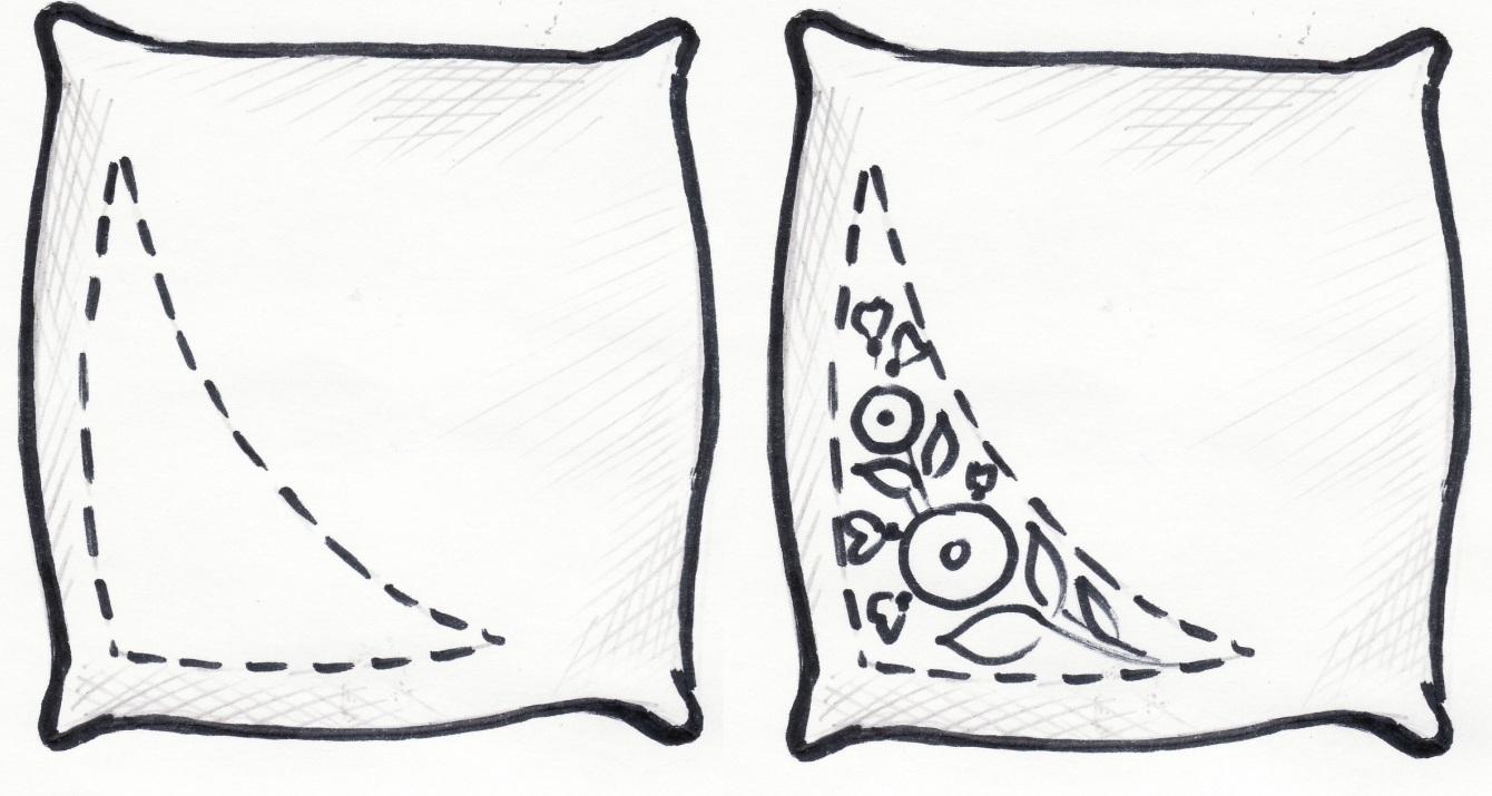 Подушка карандашом картинки