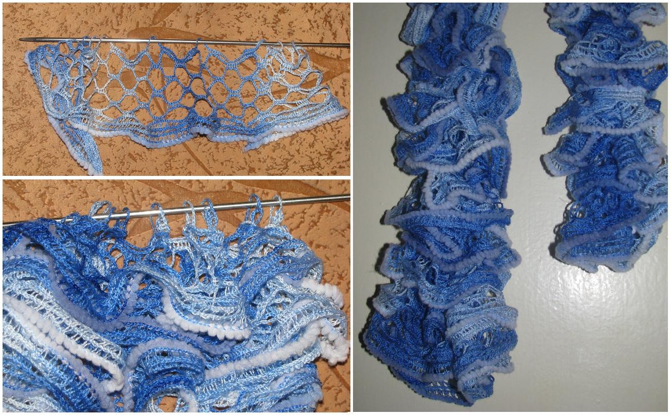 Вязание ажурной пряжей