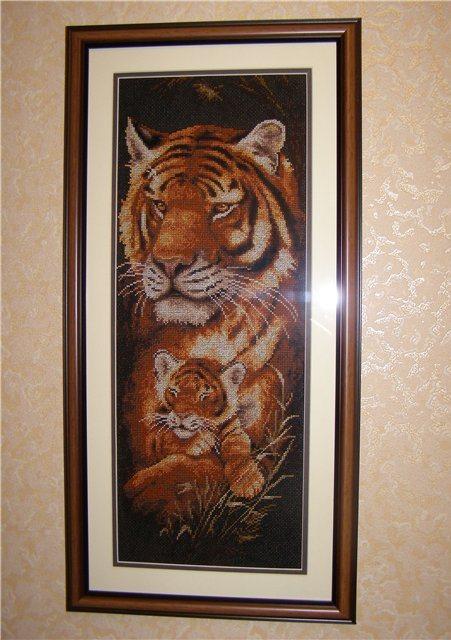 Вышивка крестом тигрицы