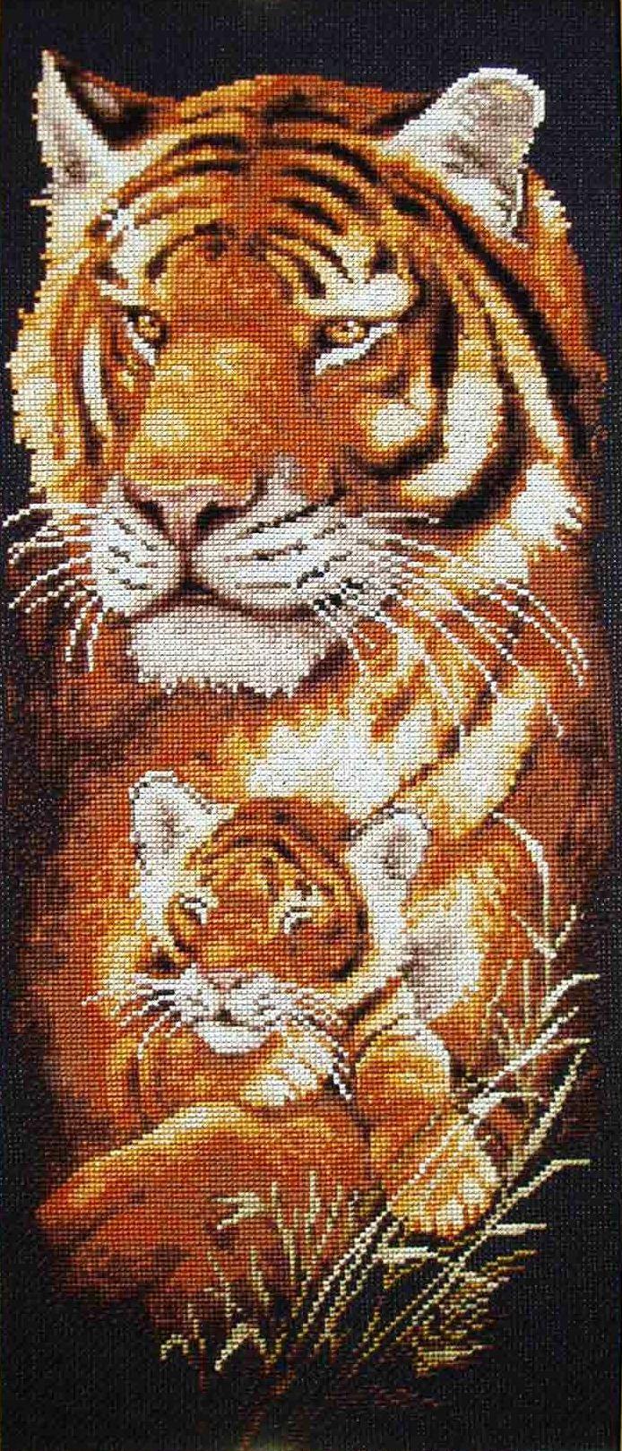 Тигрица вышивка крестом схема