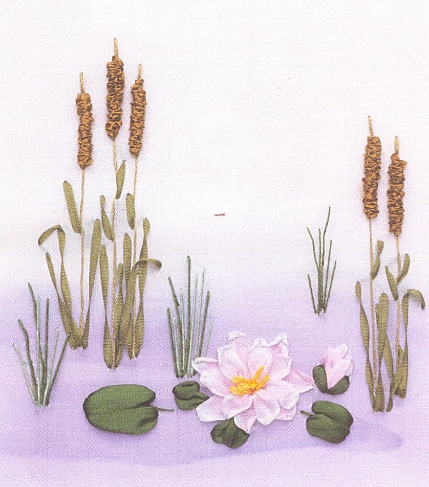 Водяная лилия вышивка