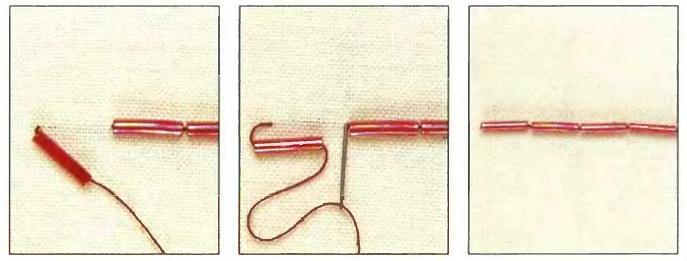 Как правильно пришивать бисер на вышивке