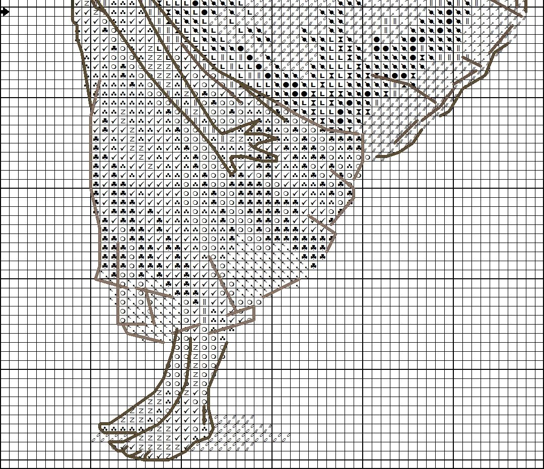 схема плетения на канве крестиком бабочку