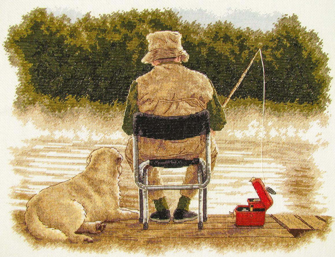 Вышивка все о рыбалке