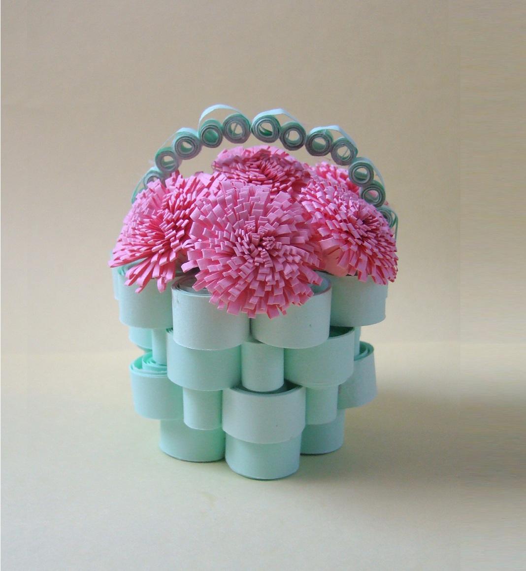 Корзина для цветы из бумаги своими руками