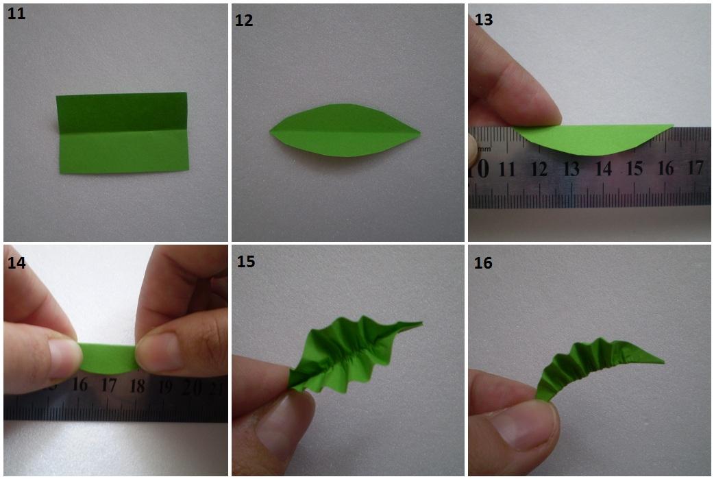 Листья из бумаги своими руками к цветам