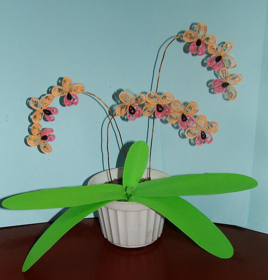 Орхидея своими руками из 54