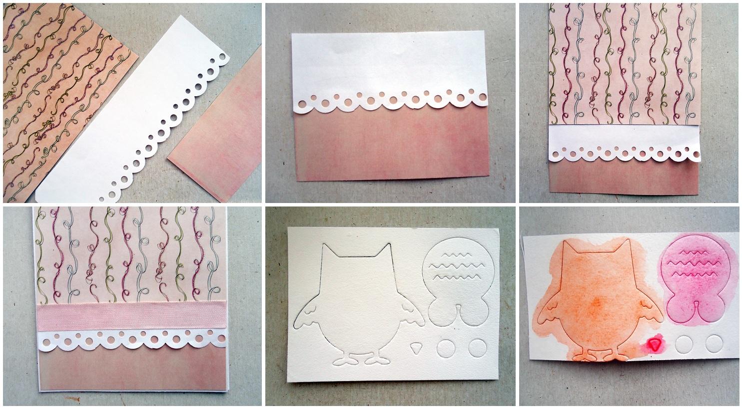 Открытка из бумаги домашних, открытки