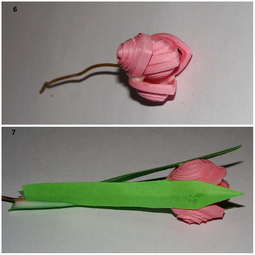 Тюльпаны из салфеток своими руками пошаговое фото 46