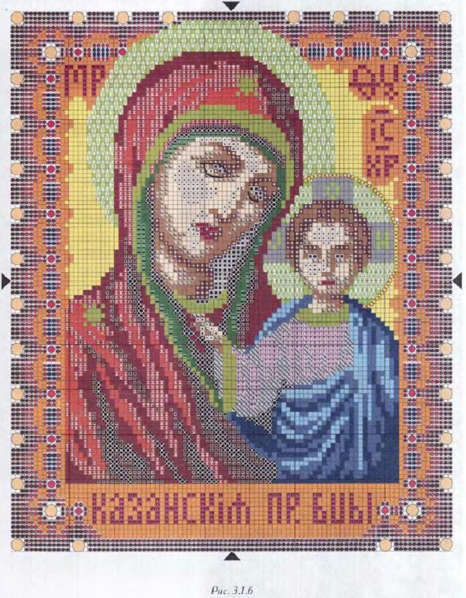 Схема вышивки икон божьей матери 83