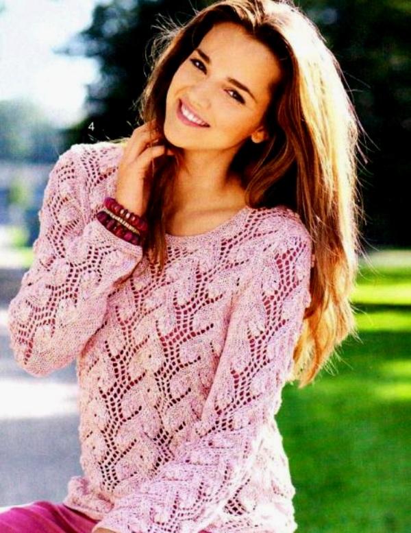 Ажурный свитер женский