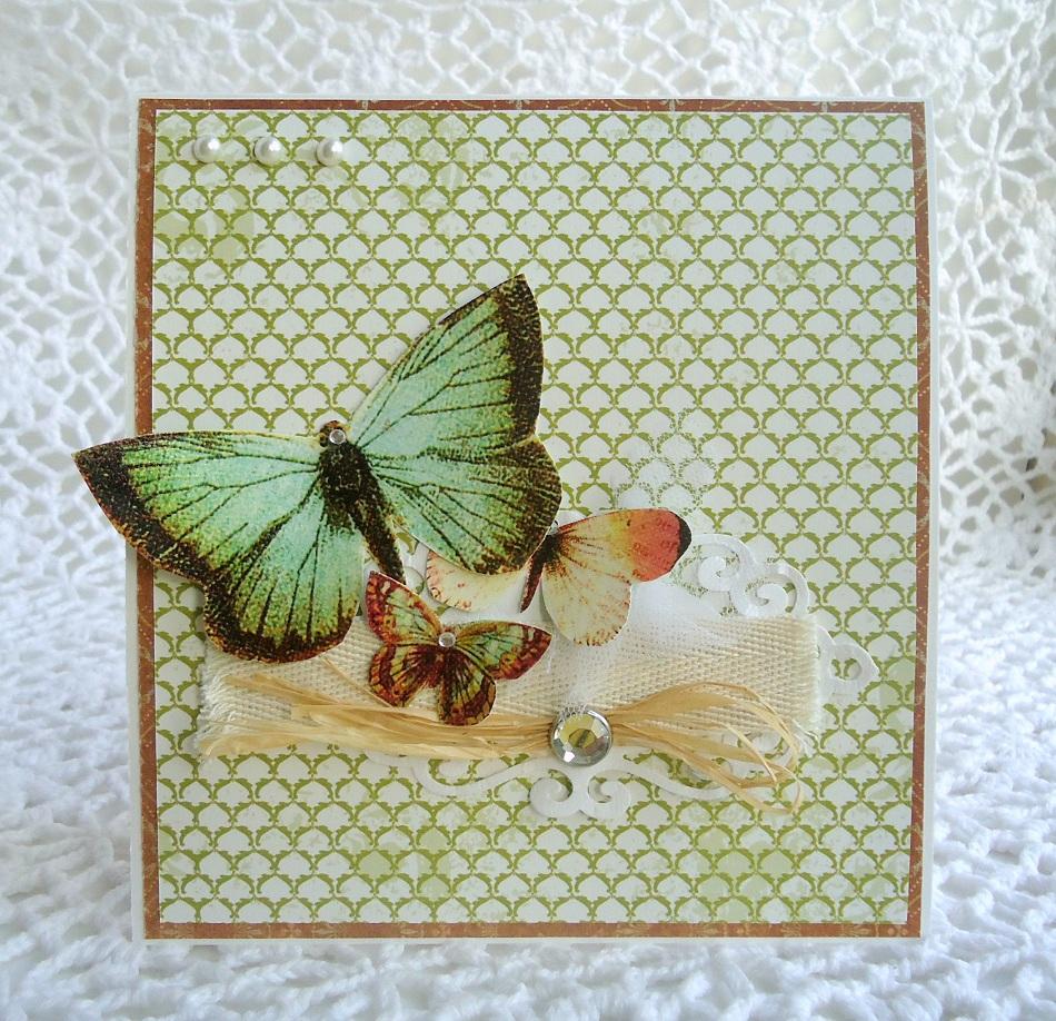 Мастер класс бабочки для открыток, днем