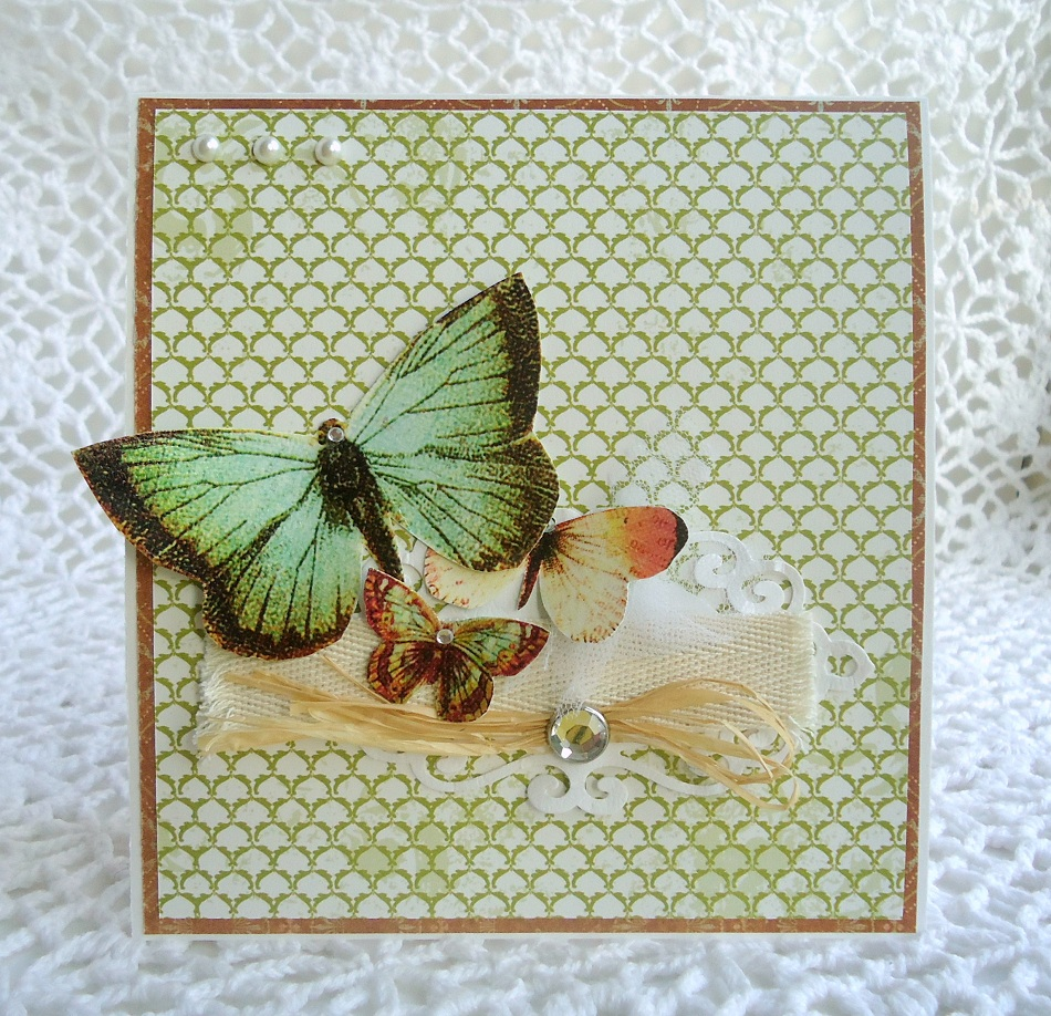Открытка своими руками бабочки