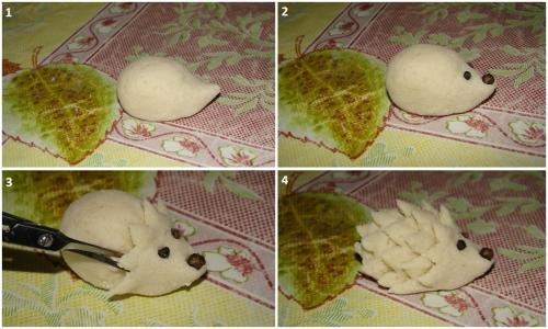 Как сделать ежика своими руками из соленого теста