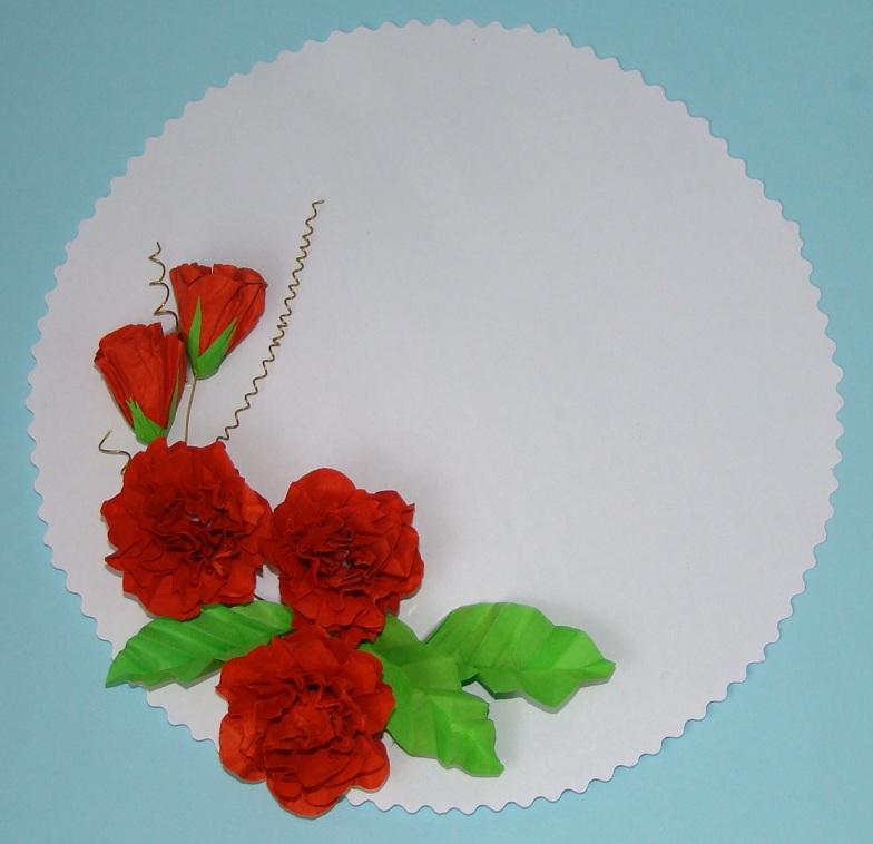 Ноября, цветы из салфеток своими руками для открыток
