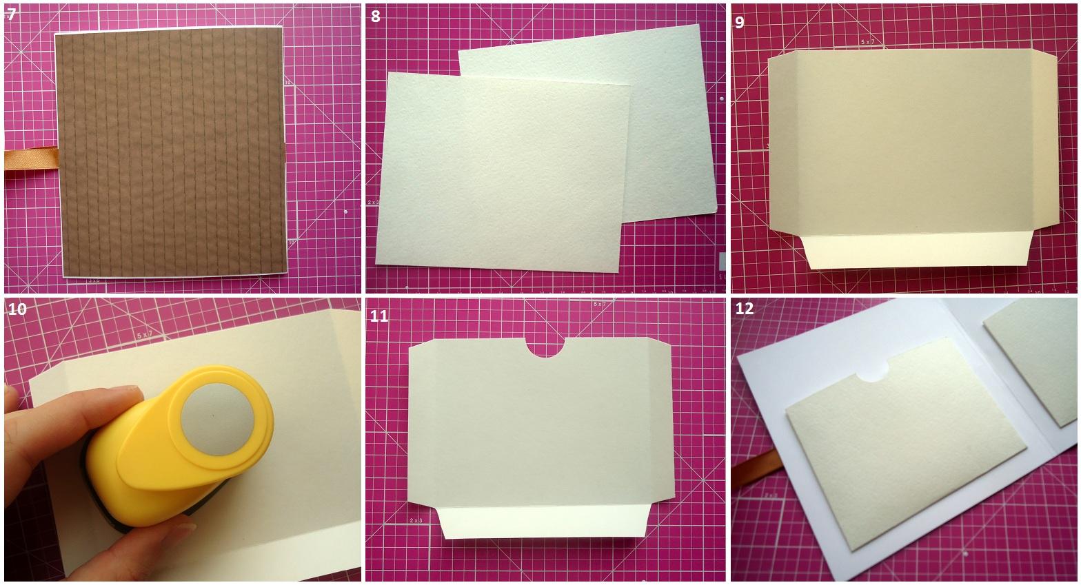 Как сделать карман в открытке 80