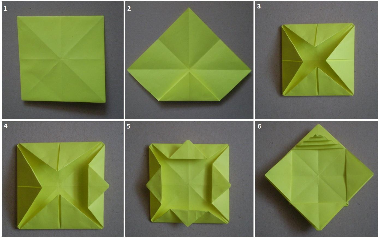 Схема корзинок оригами