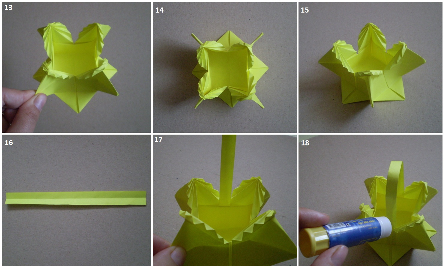 Как сделать корзинку из белой бумаги