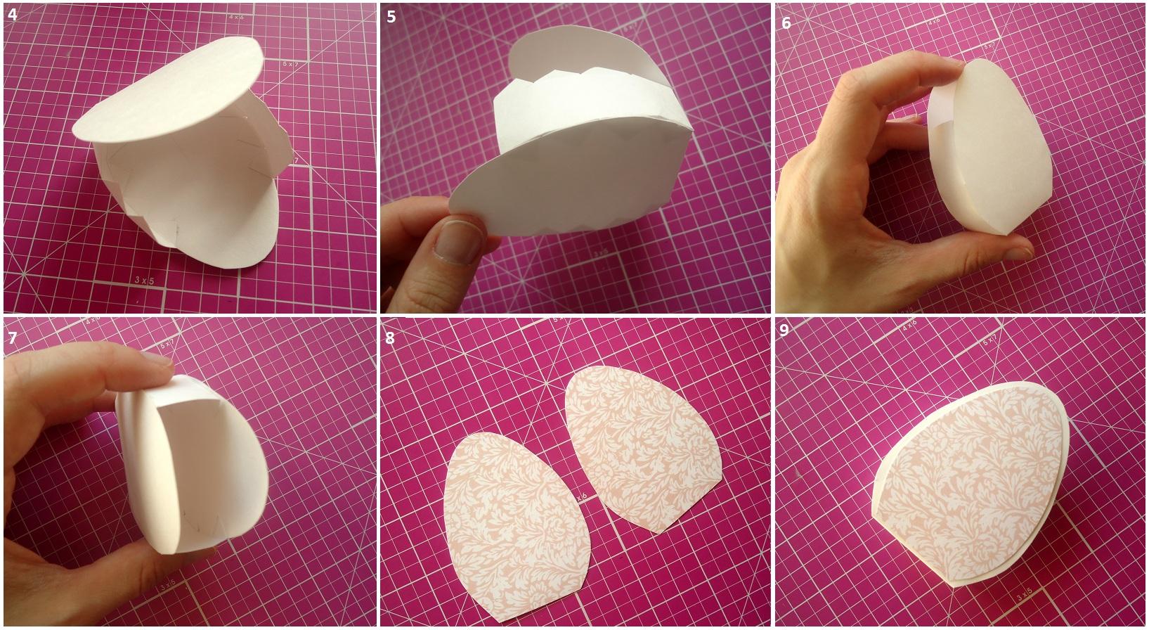Как из картона сделать пасхальное яйцо