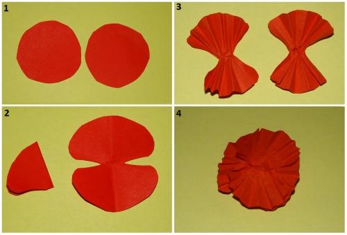 Как сделать цветы маки