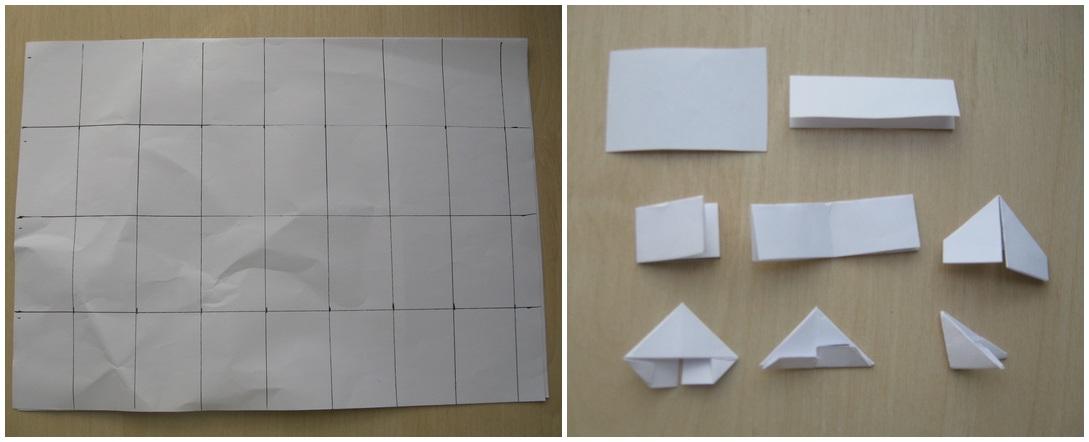 Видео как сделать модули из бумаги