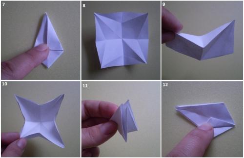 Маленький цветок из бумаги