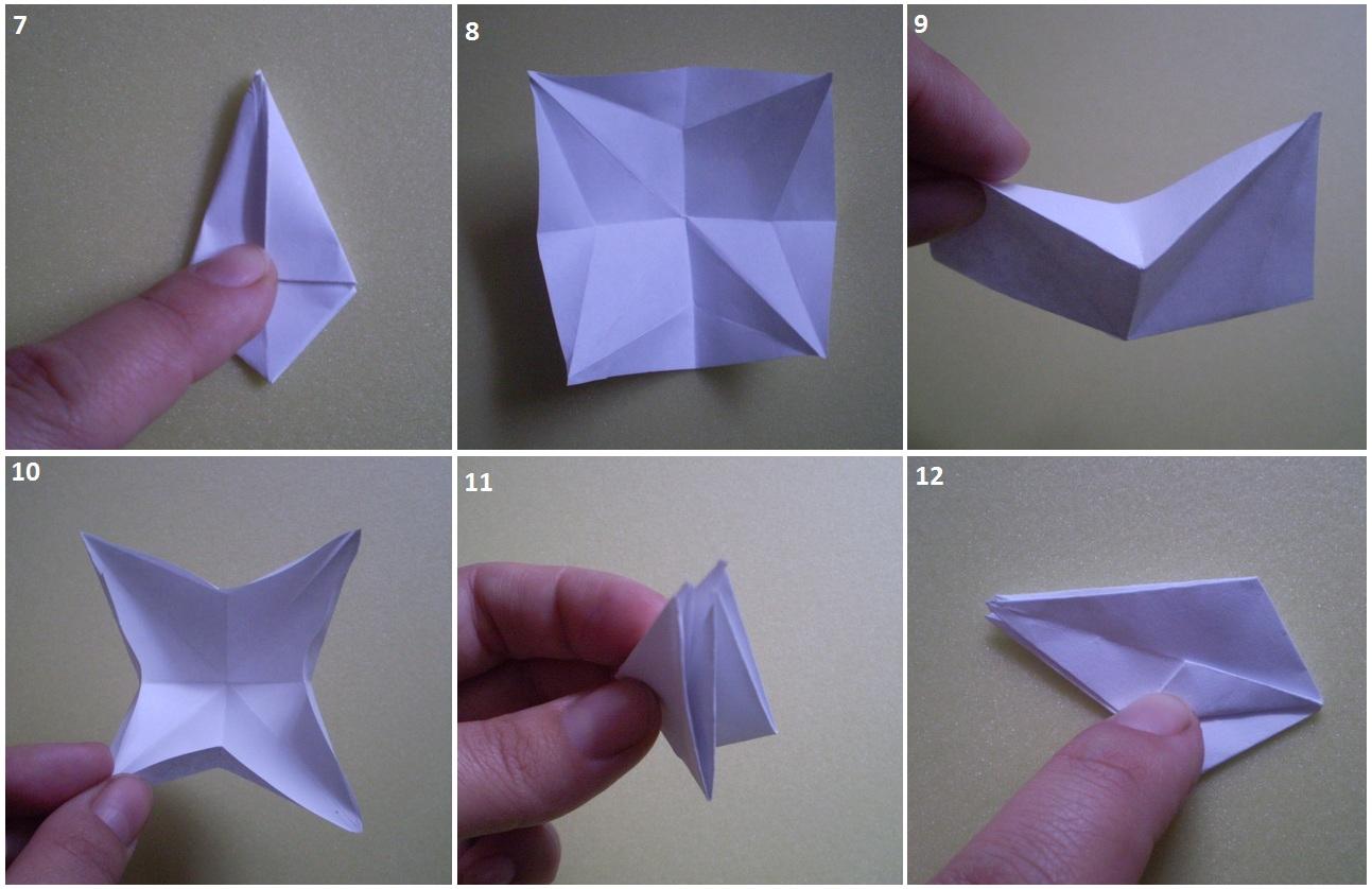 схема новогодних открыток с оригами