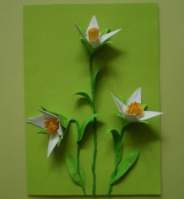 Поделки первоцветов своими руками из бумаги