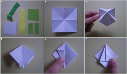 Подснежники из бумаги оригами своими руками