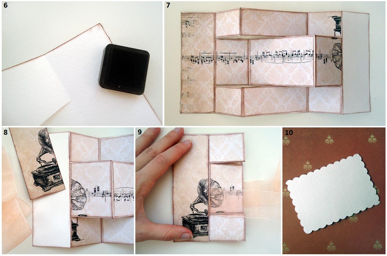 Шаблоны складывающихся открыток