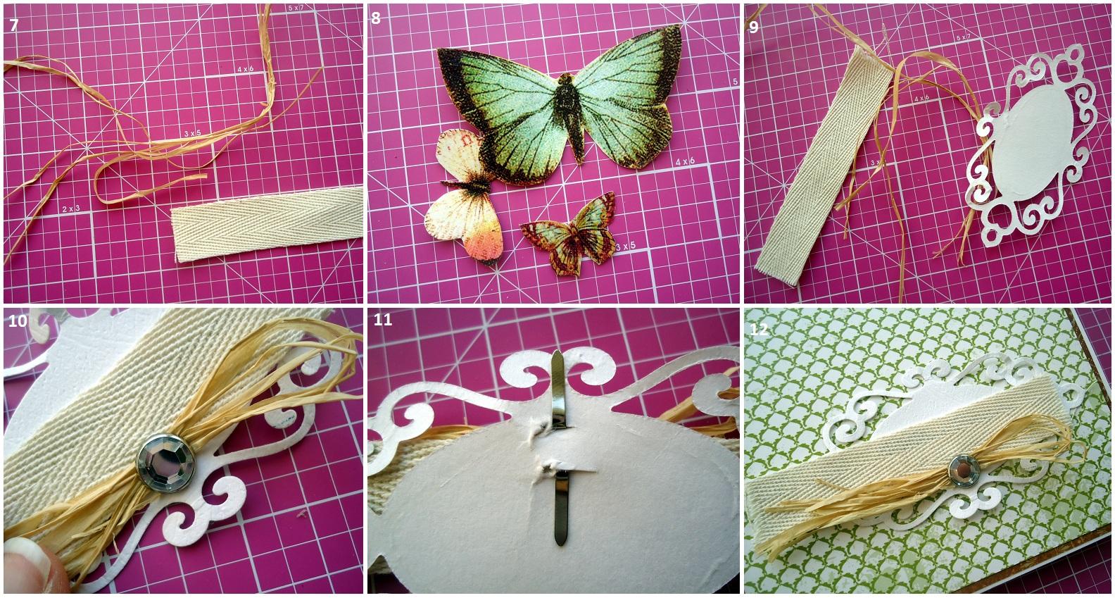 Как делать бабочку из открытки