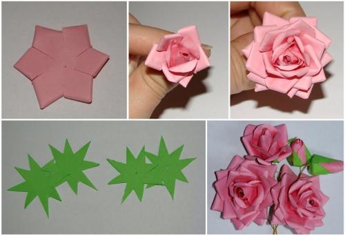 Роза из крепированной бумаги своими руками видео 4
