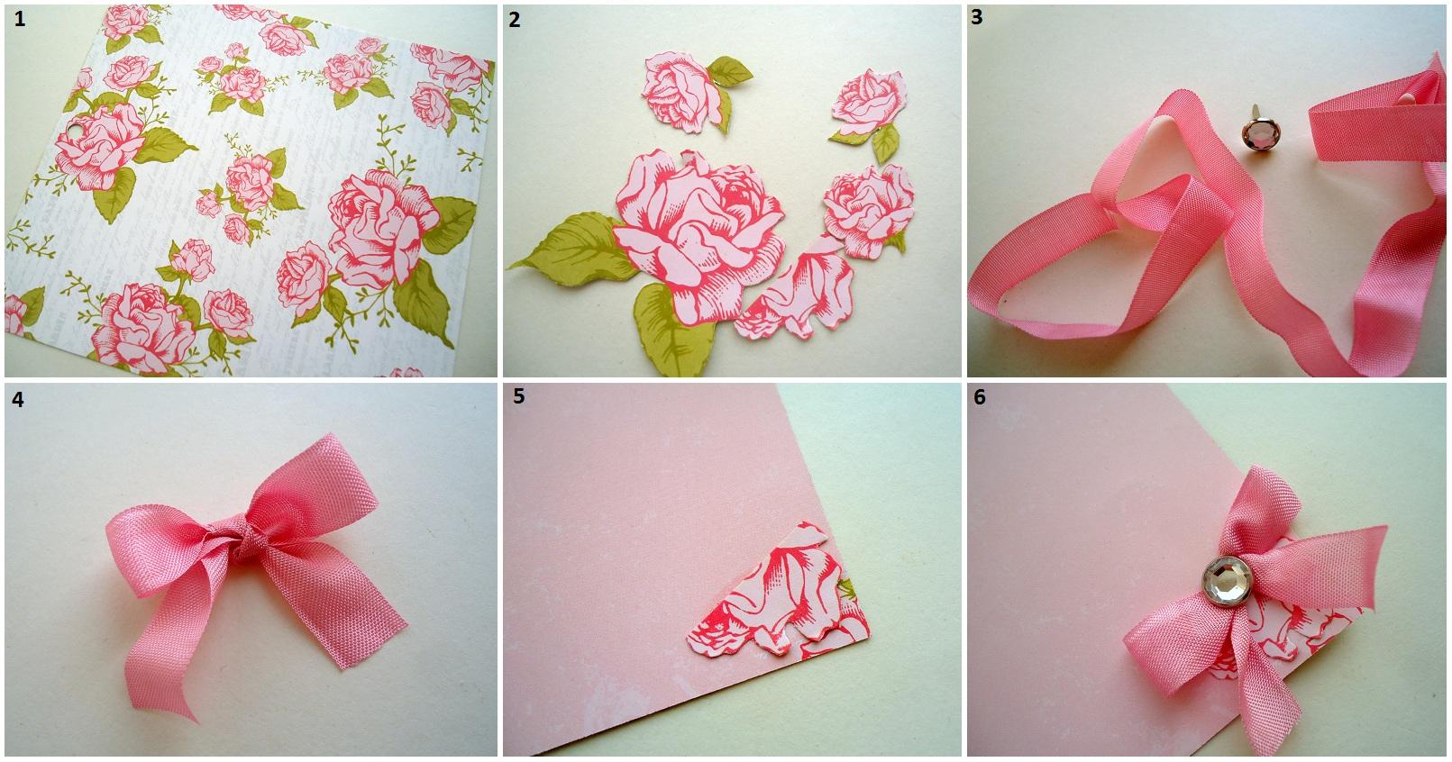 Как прикрепить открытку к цветам