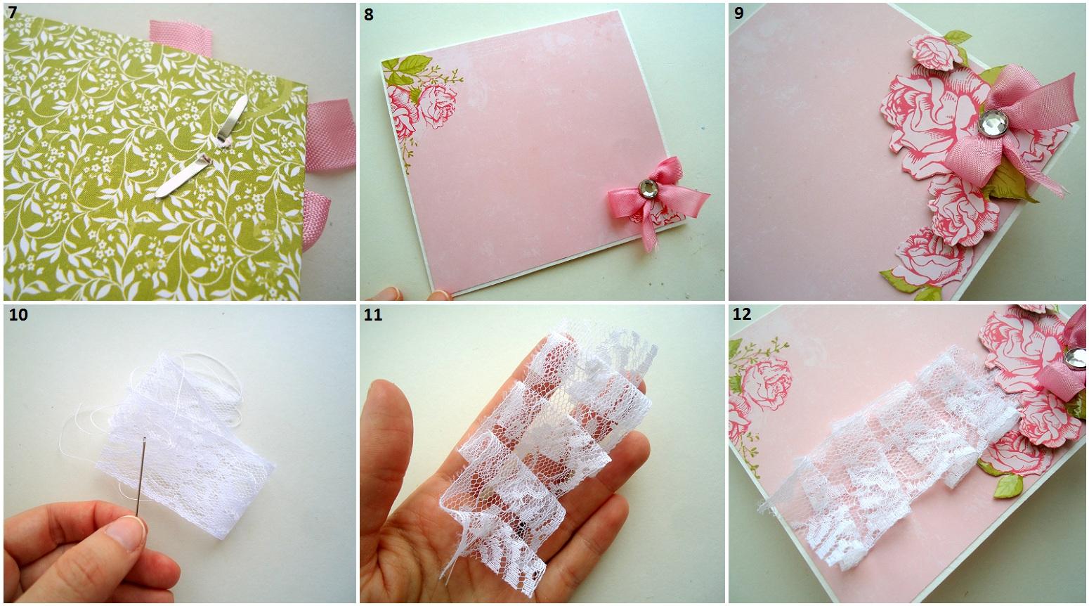Открытка из бумаги цветы