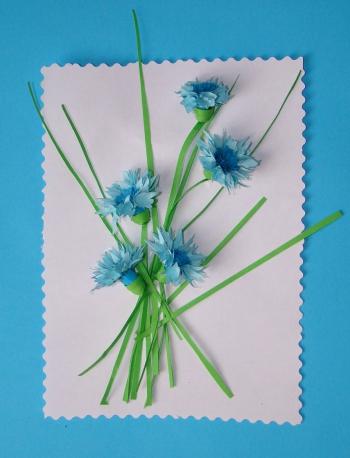 Как сделать полевые цветы бумаги