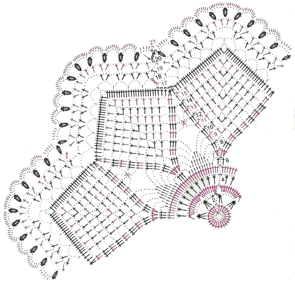 салфетки схема вязания