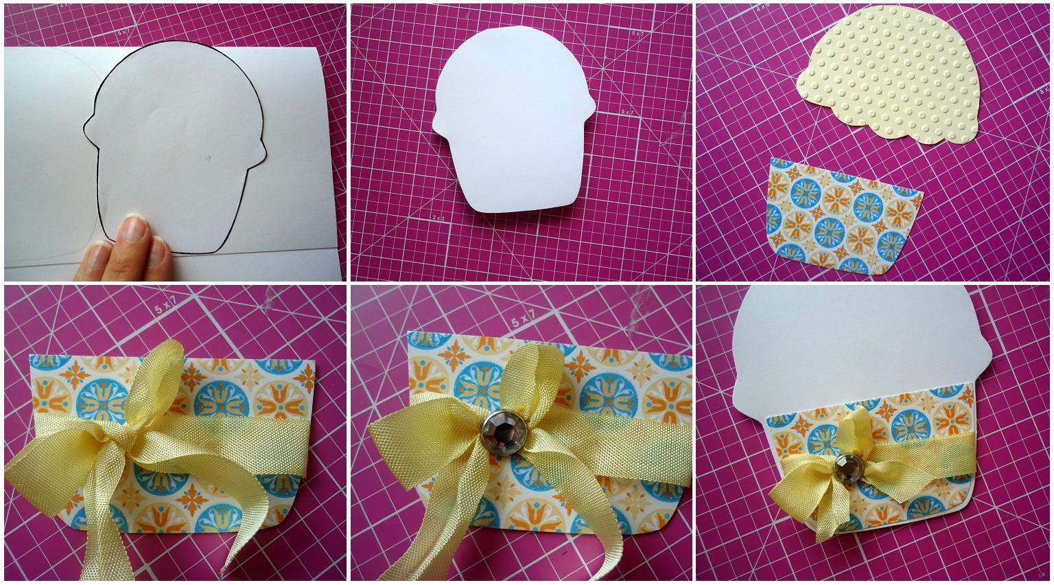 Как красиво украсить открытку из картона