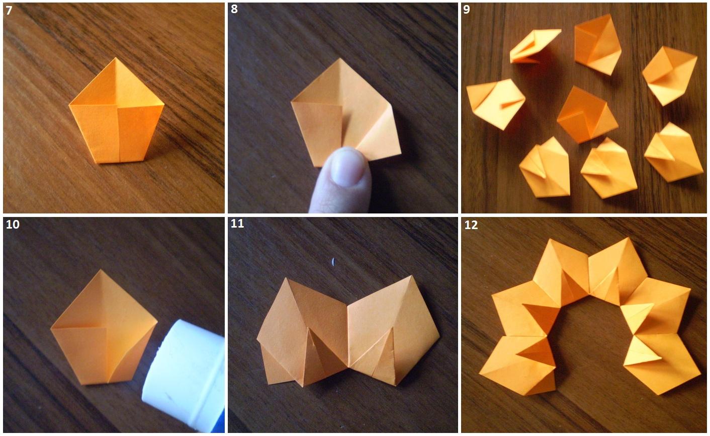 Подсолнух из бумаги своими руками оригами 4
