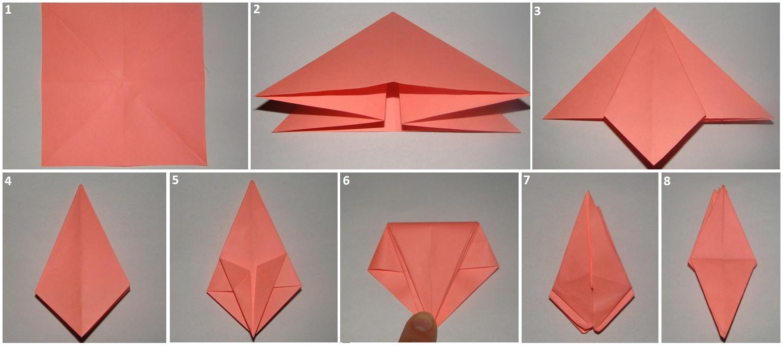 Лилия оригами из бумаги