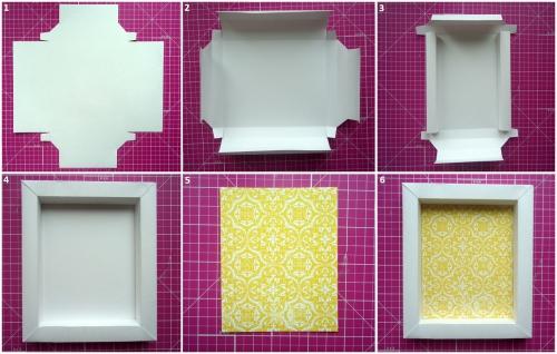 Пошаговые фото изготовления рамки для фото рис. 1