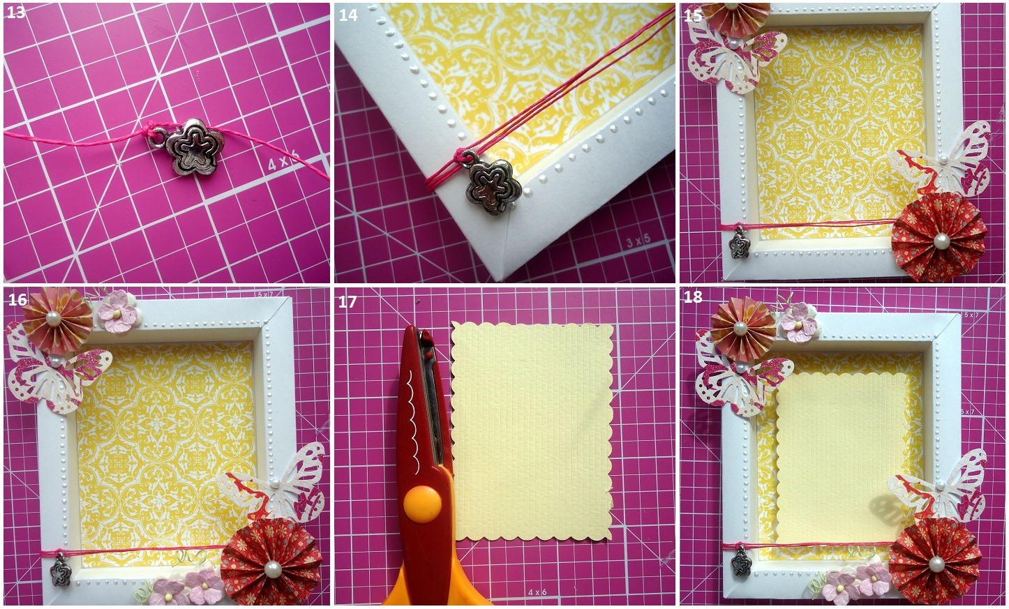 Оформление рамок для открыток своими руками