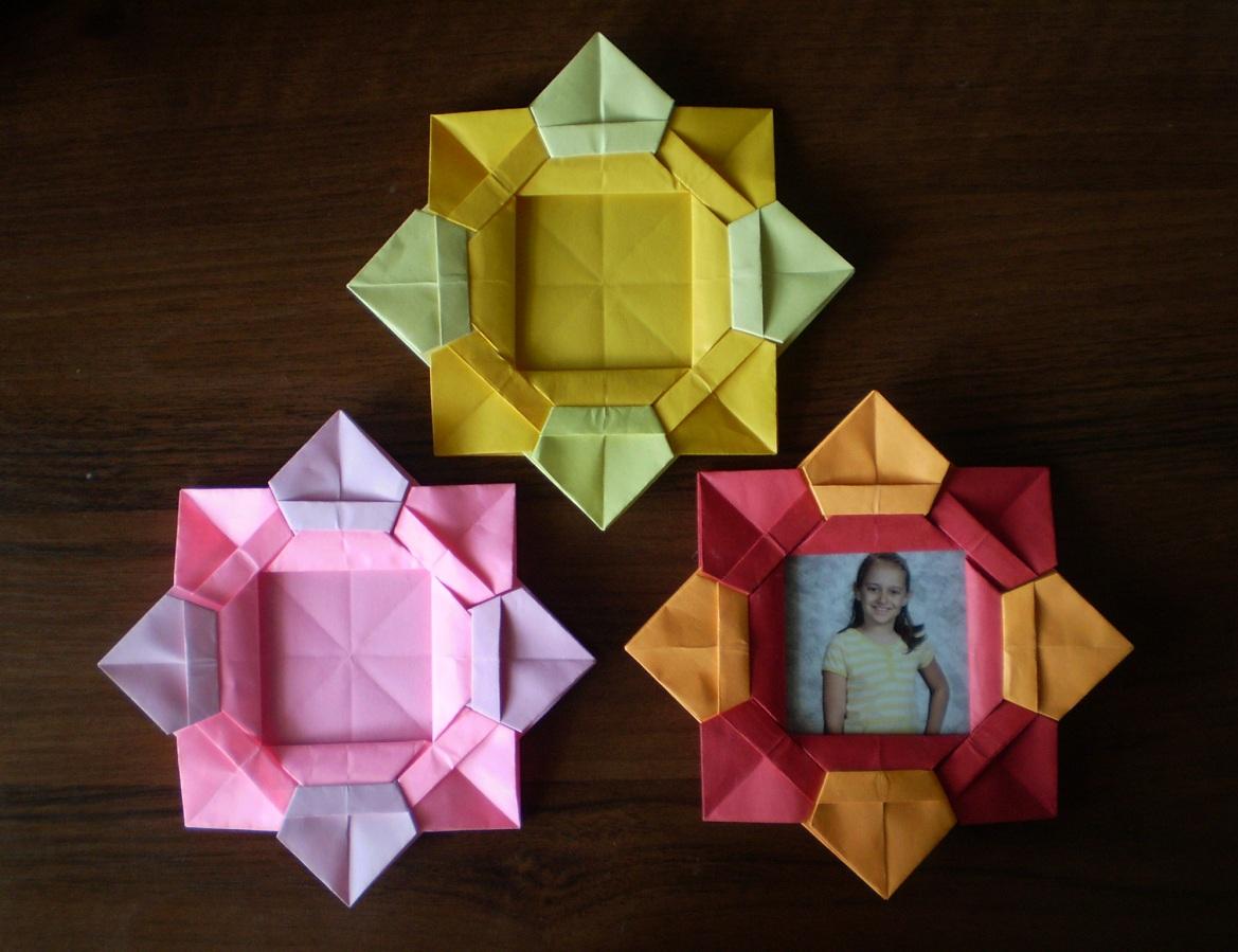 Оригами фоторамка