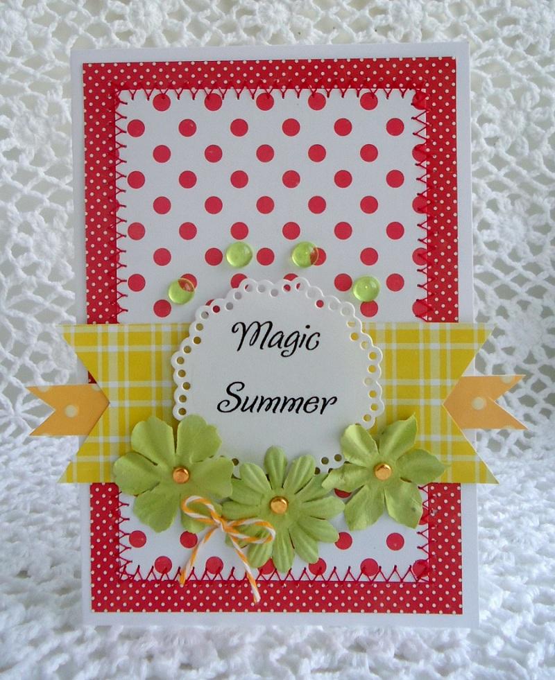 Лето открытка своими руками, матери днем рождения