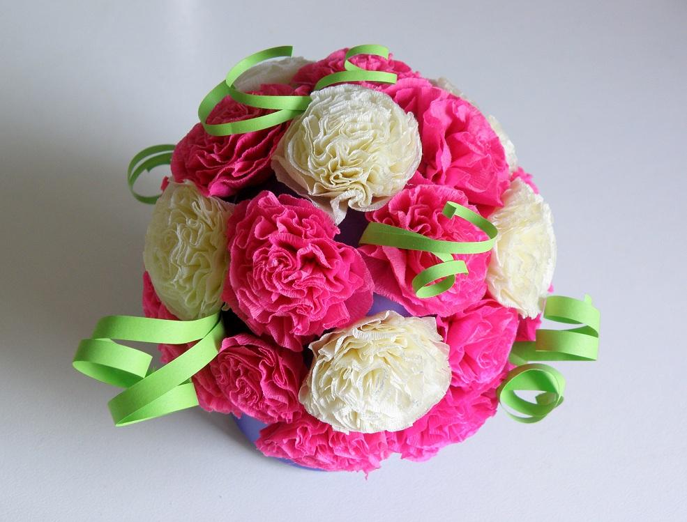 Букет из бумаги из цветов