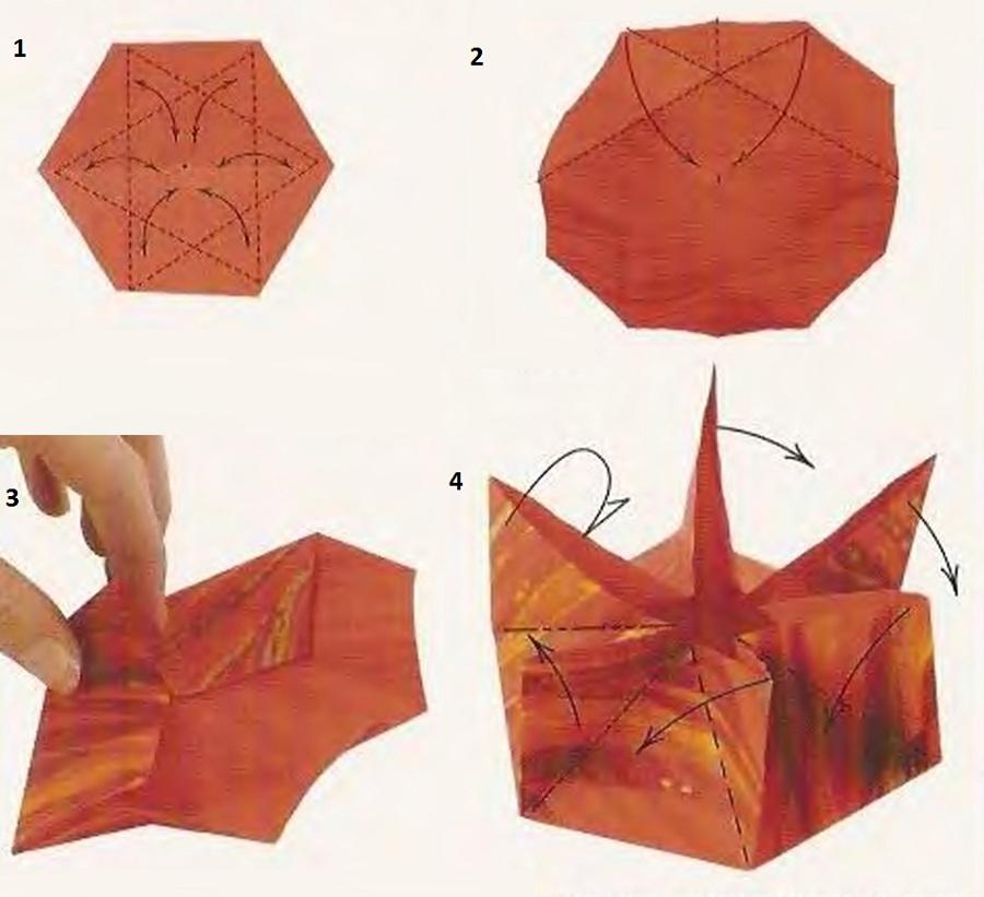 Кувшинка в технике оригами