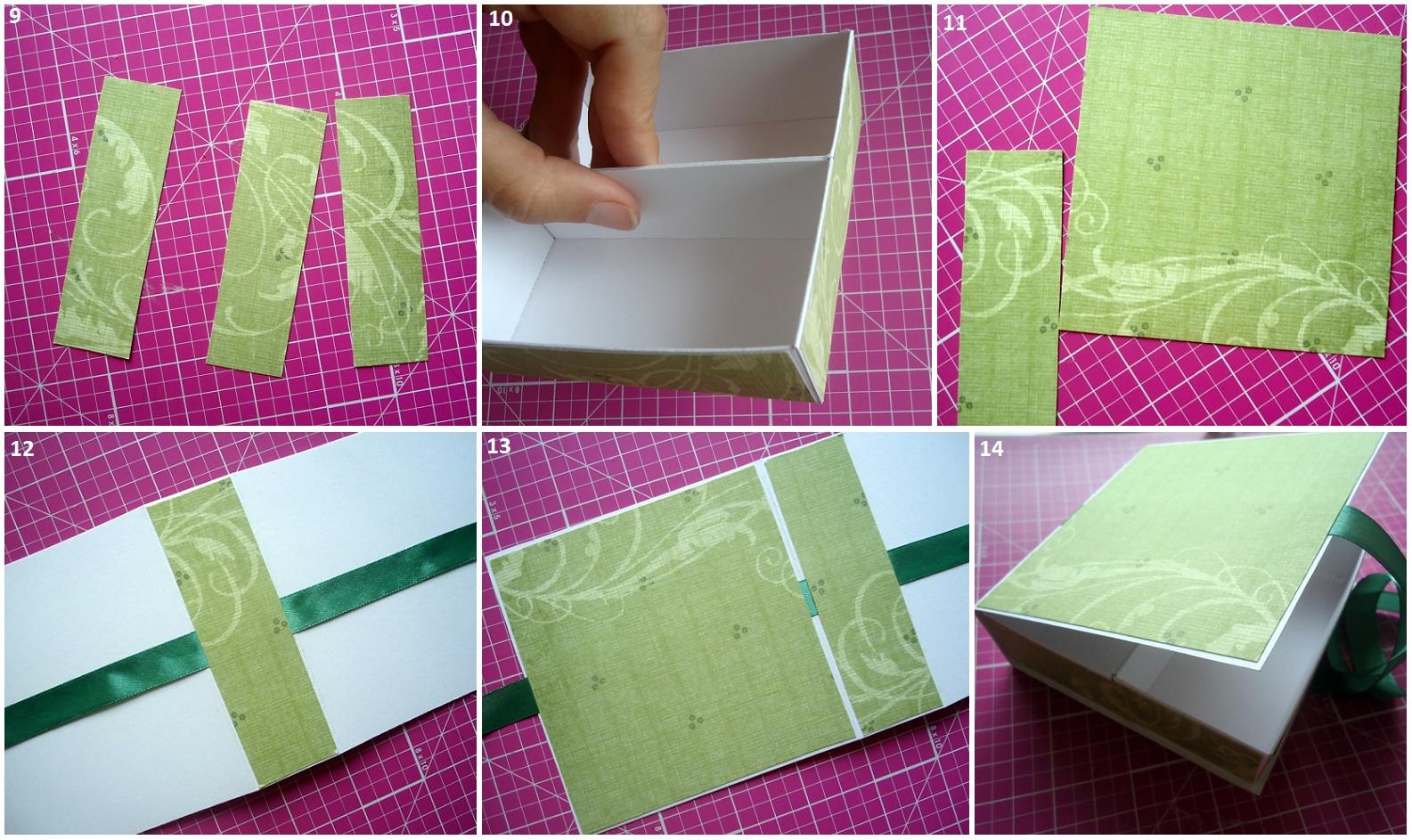 Шкатулка из картона своими руками пошагово фото