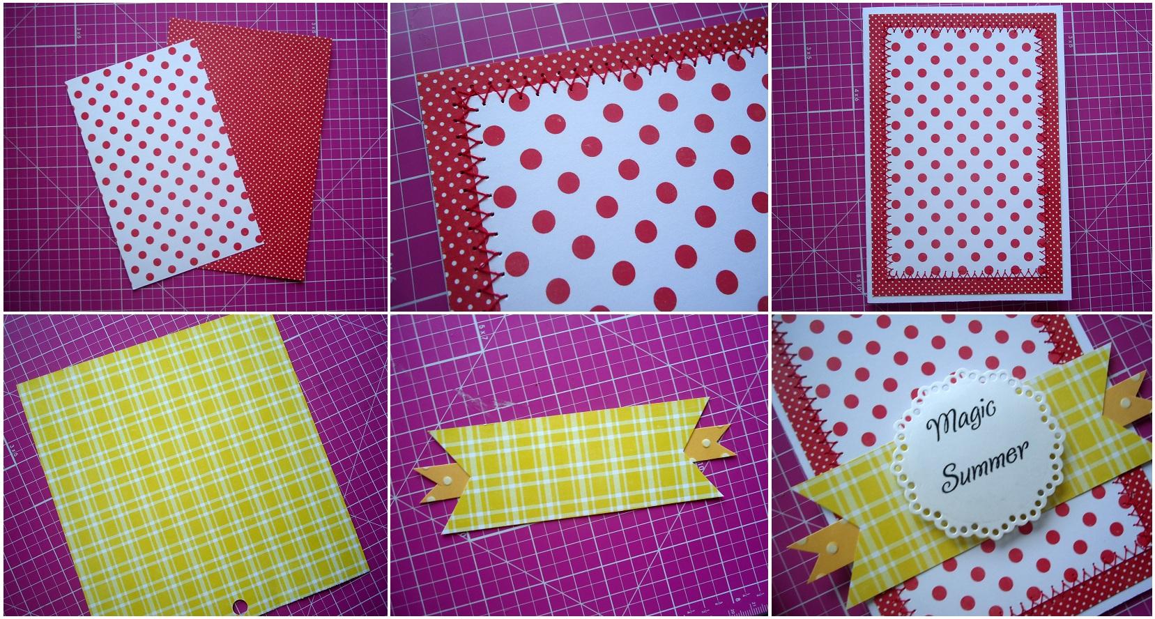 Как сделать открытку из бумаги скрапбукинга